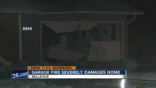 Fire causes heavy damage at Bellevue home - Video
