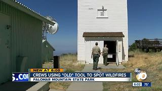 Crews using lookout tower to spot wildfires - Video