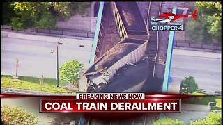 Coal train derails in West Allis - Video