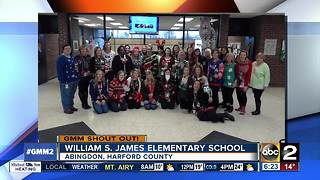 Good morning from William S. James Elementary School - Video