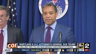 Maryland and D.C. to sue Trump over foreign payments - Video
