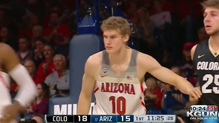 17th ranked Arizona holds off late surge by Colorado - Video