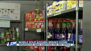 Mobile soup kitchen breaks down - Video