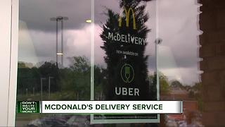 McDonald's partners with Uber for delivery service