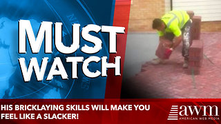 His Bricklaying Skills Will Make You Feel Like a Slacker! - Video