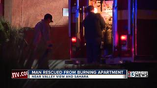 Man critically injured in kitchen fire late Friday night - Video