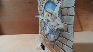 Pop Out, Drawing a 3D Angel Illusion