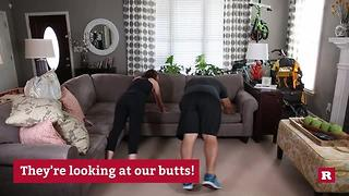 Quick and easy sofa workout with Elissa the Mom | Rare Life - Video