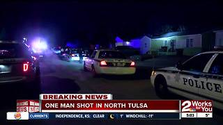Tulsa Police respond to overnight shooting in North Tulsa - Video