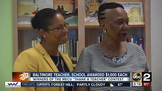 Baltimore teacher wins MECU's