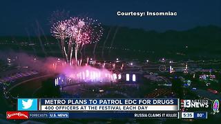 Las Vegas police plan to patrol EDC for drugs - Video