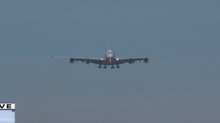 Airbus A380 lands at Mitchell International Airport. - Video
