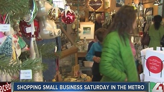 Shopping small business Saturday in the metro - Video