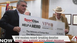 VFW receives record-breaking $1 million donation - Video