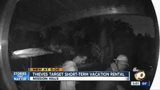 Thieves target Mission Hills short-term vacation rental - Video