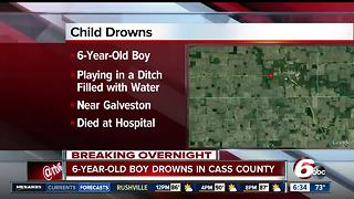 6-year-old drowns in Cass County - Video