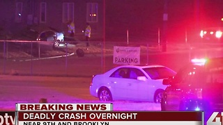 OVERNIGHT: 1 dead, 1 injured in crash near 9th and Brooklyn - Video