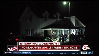 2 killed, 2 injured when vehicle crashes into house in Clinton County - Video