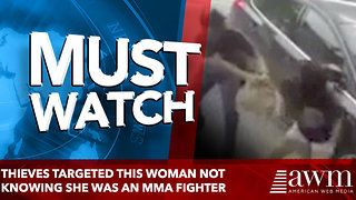 Thieves targeted this woman not knowing she was an MMA fighter - Video