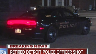 Retired police officer shot in Detroit - Video