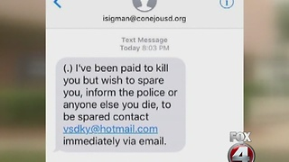 Text-message death threat scam - Video