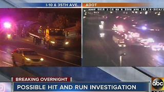 Possible hit and run crash being investigated on I-10 near 35th Avenue - Video