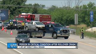Flight-for-life called to crash on I-41 in Washington County - Video