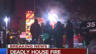 1 dead, 1 critical in early morning Monroe Township house fire - Video
