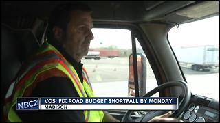 Speaker Vos: Fix road budget shortfall by Monday - Video