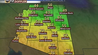 Weather disturbance moving into the Valley, bringing cooler temperatures