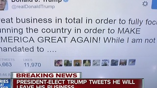 President-elect Trump tweets about his businesses - Video