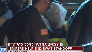 Snipers held end SWAT standoff - Video