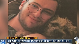 Missing teen with Aspergers leaves behind clues - Video