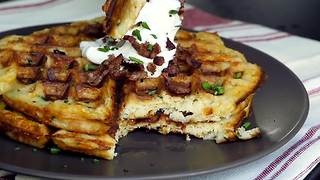 How to make mashed potato waffles