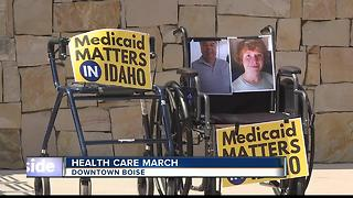 Hundreds March For Health Care in Boise - Video
