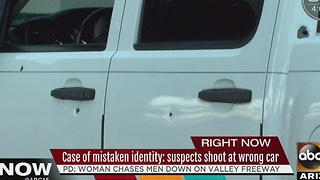 Suspects allegedly shoot woman's car, thought she was someone else - Video