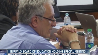 Buffalo Board of Education holding special meeting to select counsel - Video