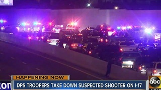 I-17 reopened in both directions Tuesday morning after officer involved shooting Monday night - Video