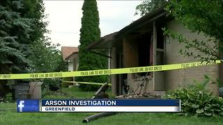 Man sets his own house on fire - Video