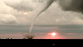 Rope Tornado Spins by Minnesota Sunset - Video