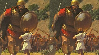 Can you spot the 6 differences in these David & Goliath images? - Video
