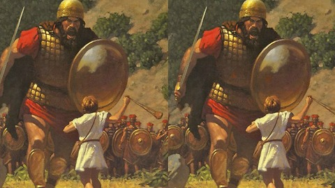 Can you spot the 6 differences in these David & Goliath images?