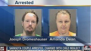 Sarasota couple arrested, charged with child neglect; 5 children living in deplorable conditions - Video