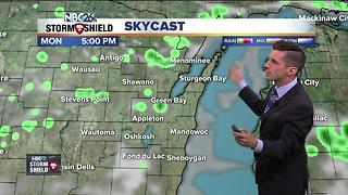Humid and rain chances for Monday - Video