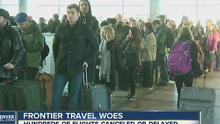 Delays plague Frontier Airlines passengers at DIA - Video