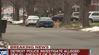 Detroit police investigating allegations 5-year-old was raped by a relative - Video