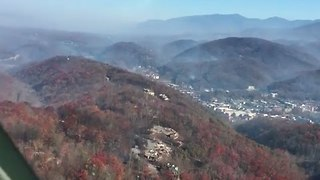National Guard Takes Aerial Look at Tennessee Wildfire - Video