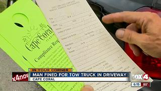 Cape Coral resident faces fines for work truck in his driveway - Video