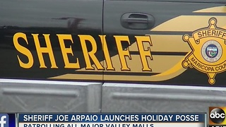 Maricopa County begins its 'Holiday Posse' to deter crime at shopping malls - Video