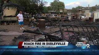 Roach Fire increases in containment - Video